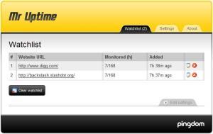 Mr Uptime 0.9.3 - náhled