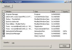 Transparency Manager 1.0 - náhled