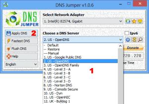 DNS Jumper 1.0.6 - náhled