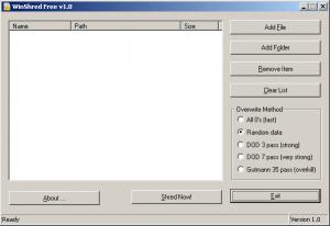 WinShred 1.0 - náhled