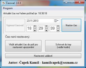 Časovač 2.0.4 - náhled