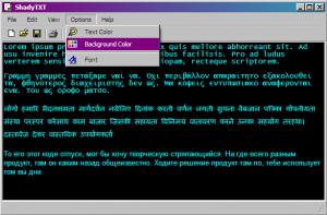 ShadyTXT 1.90 - náhled
