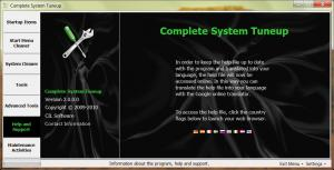 Complete System Tuneup 2.1.0.3 - náhled