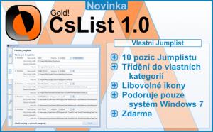 Gold! CsList 1.0.2 - náhled