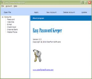 Easy Password Keeper 2.5 - náhled