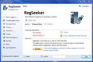 RegSeeker 3.01 - náhled