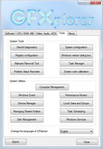 GFXplorer 3.13.0.1350 - náhled