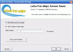 Lotsa Fun Maps Screen Saver  1.0.1.6 - náhled