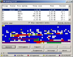 UltraDefrag 7.0.1 - náhled