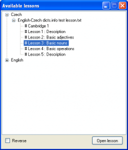 Vocabulary Trainer 1.0.8.0 - náhled
