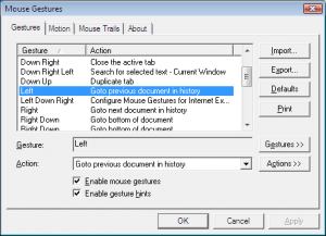 Mouse Gestures for Internet Explorer 2.1.2.2 - náhled