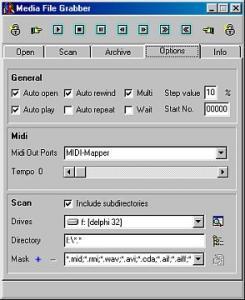 Media File Grabber 1.4 - náhled