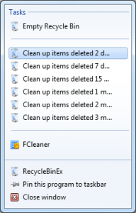 RecycleBinEx 1.0.5.530 - náhled