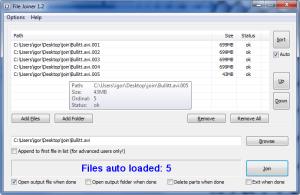 File Joiner 1.4.0 - náhled