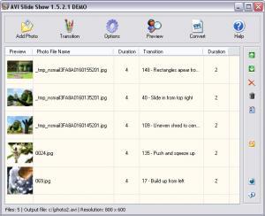 AVI Slide Show 1.6 - náhled