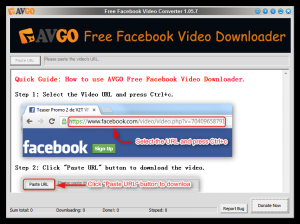 AVGO Free Facebook Video Downloader 1.8.8 - náhled