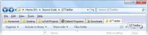 QTTabBar 1.5.0.0 Beta 2 - náhled