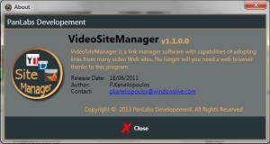 VideoSiteManager 1.5.0.0 - náhled