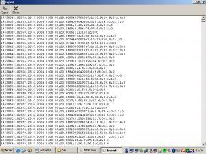 MDB View - obrazovka s exportom - náhled