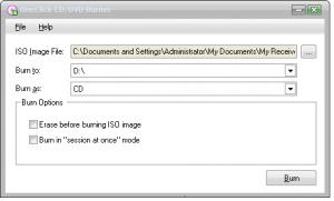 OneClick CD Burn 1.0 - náhled