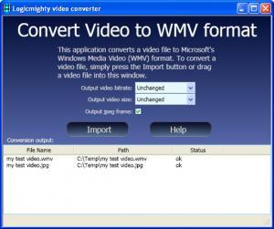 ConvertToWMV 1.0.0 - náhled