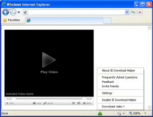 IE Download Helper 3.2 - náhled
