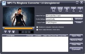 MP3 To Ringtone Converter 1.7 - náhled