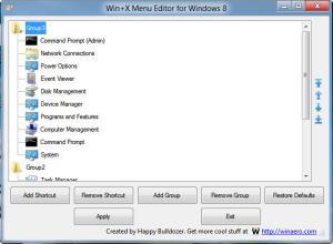 Win+X Menu Editor 1.0.0.3 - náhled