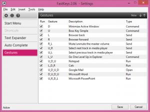 FastKeys 4.22 - náhled