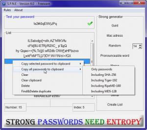 Strong Passwords Need Entropy 11.0 - náhled