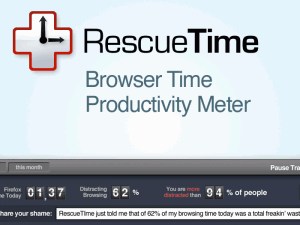 RescueTime for Firefox 3.0.20.1 - náhled