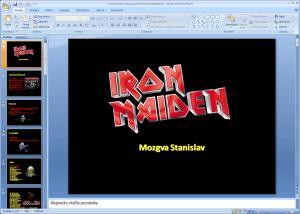 Iron Maiden - prezentace - náhled