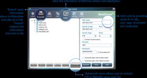 NetDrive 2.6.12 - náhled