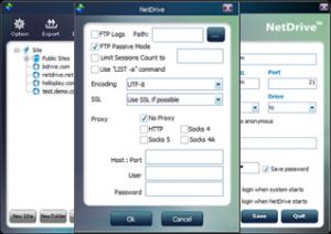 NetDrive 2.6.15 - náhled