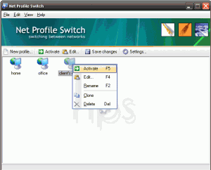 Net Profile Switch 6.2 - náhled