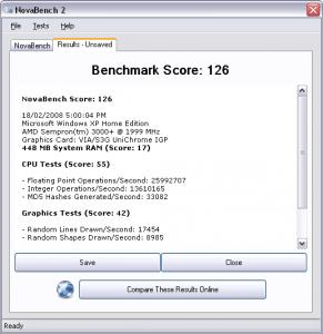NovaBench 4.0.2 - náhled