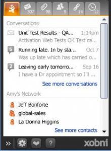 Xobni for Outlook 2.0 - náhled