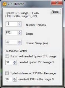 CPUThrottle 1.0 - náhled