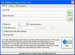 Fastest File Splitter and Joiner Lite 3.3 - náhled