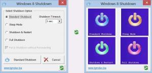 Win8Shutdown 1.0 - náhled