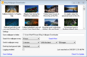 Bing Wallpaper Downloader - náhled