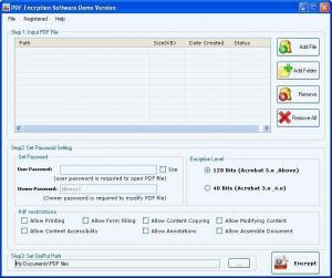 PDF Encryption Software 1.5.6.3 - náhled