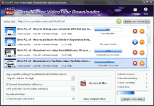 ChrisPC Free VideoTube Downloader 8.31 - náhled