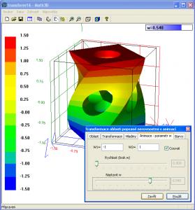 Transformace 3D oblasti - náhled