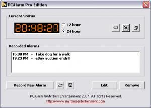 PCAlarm 1.0 - náhled