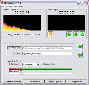Recordster 7.5 - náhled