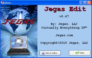 Jegas Edit 0.67 - náhled
