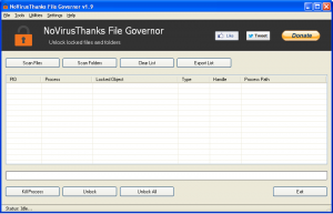 NoVirusThanks File Governor 2.0 - náhled