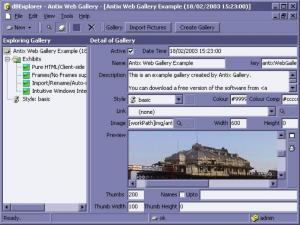 Antix Web Gallery 2.1 - náhled