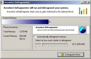 Avextinct Defragment 1.0 - náhled